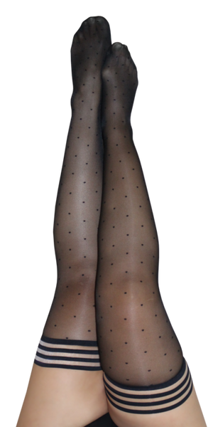 Kixies Ally Polka Dot Thigh Highs
