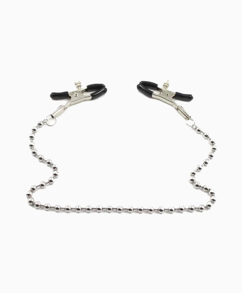 Bull Nose Nipple Clamps with Ball Chain