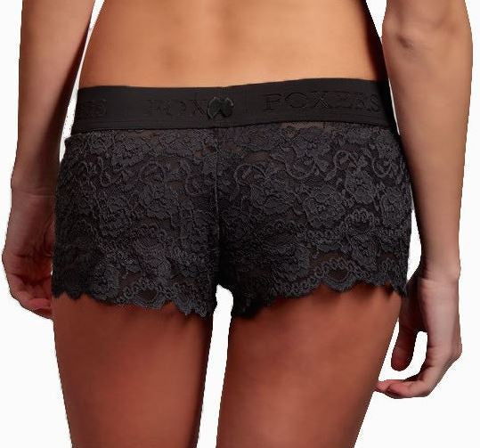 Foxers Lace Boxers in Black