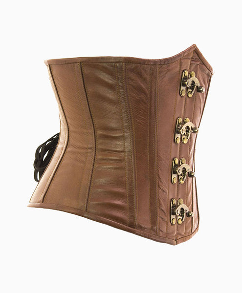 CERSEI UNDERBUST CORSET NATURAL LEATHER | Lotus Blooms Alexandria Virginia