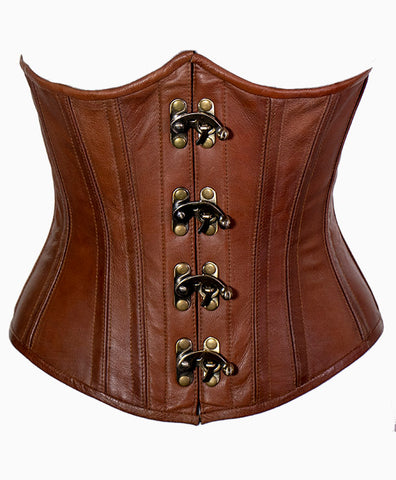 Cersei Underbust Corset in Natural Leather