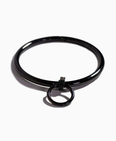 Bound Steel Day Collar in Black