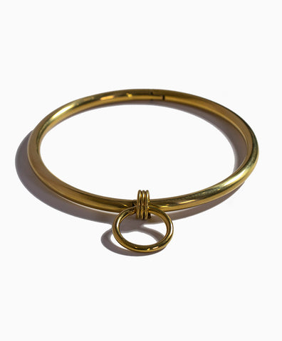 Bound Steel Day Collar in Gold