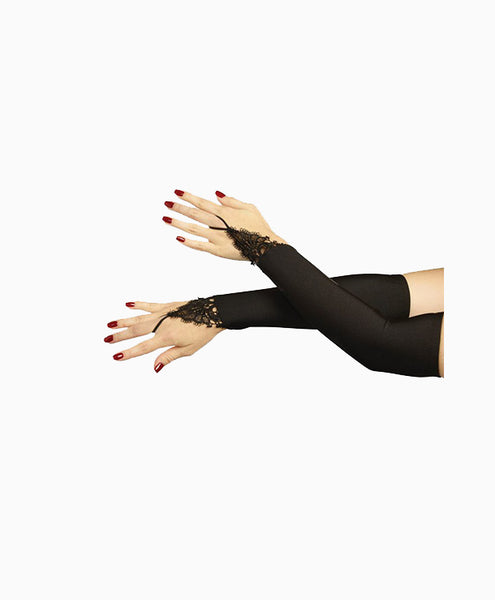 Elbow Length Fingerless Evening Gloves