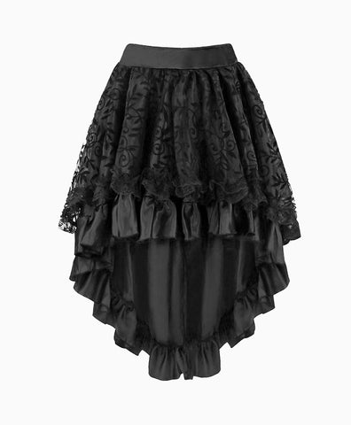 High Low Overlay Skirt