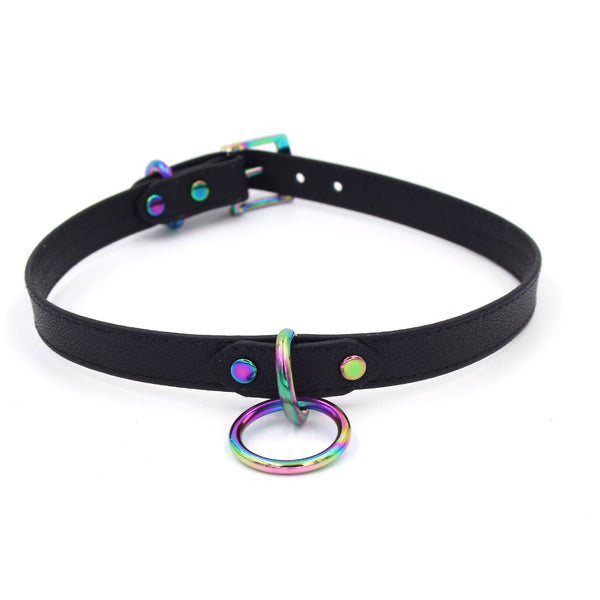 Restrained Grace Petite Collar in Iridescent Rainbow