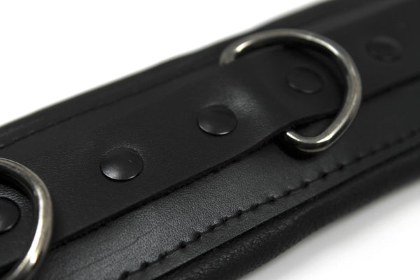 Venom Padded Leather Cuffs