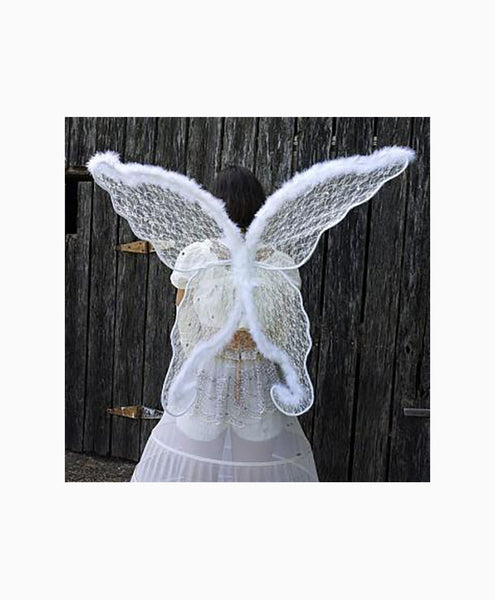 Lace Fantasy Angel Wings in White