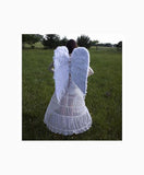 Large Feather Angel Wings in White