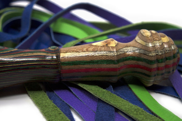 Mardi Gras Turned Wood Flogger
