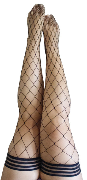 Kixies Michelle Large Fishnet Thigh High
