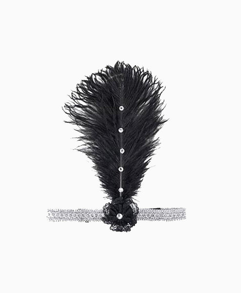 Ostrich Feather Flapper Headband