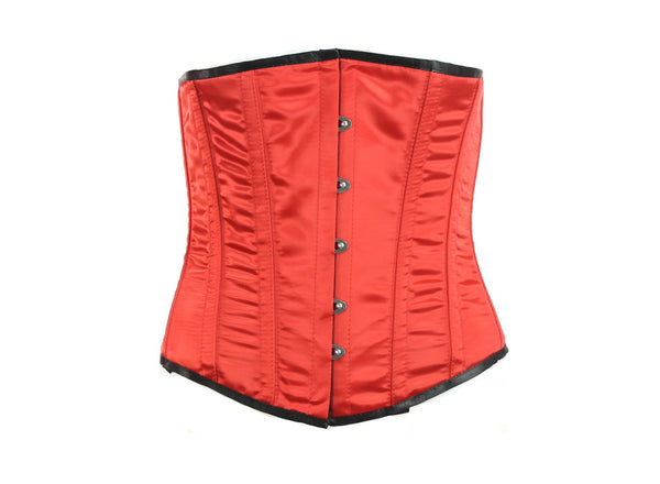 Red Satin Doll Underbust Corset