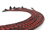 Bound Collection Red & Black Braided Flogger Attachment