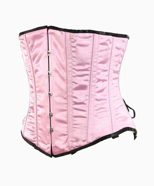 Pink SATIN DOLL UNDERBUST CORSET | Lotus Blooms Alexandria Virginia