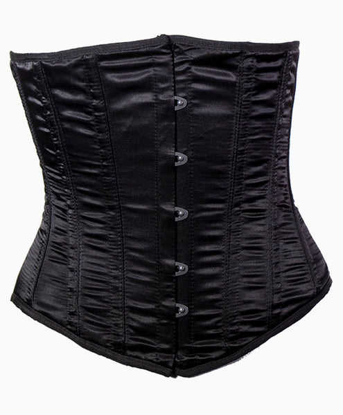 Satin Doll Underbust Corset in Black