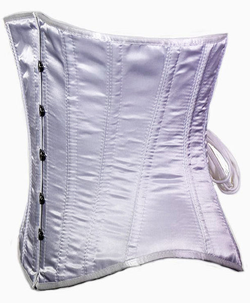 Satin Doll Underbust Corset in White