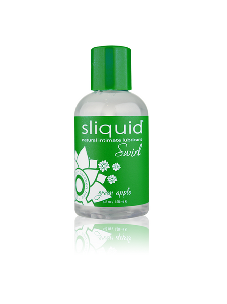 Sliquid Naturals Swirl Flavored Lube in Green Apple