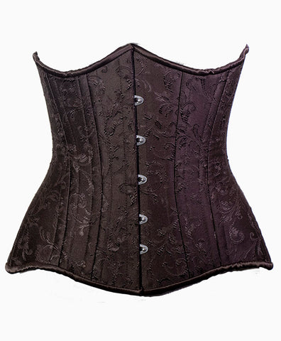 Temptress Underbust in Brown Brocade