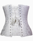 Temptress Underbust in White Brocade