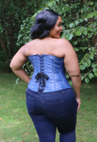 The Sound and the Fury Blue Leather Corset