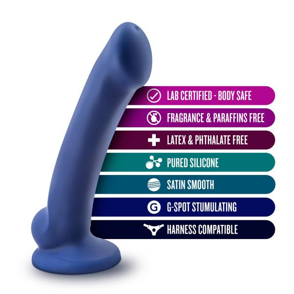 Blush Avant D10 Ergo Mini Dildo in Indigo