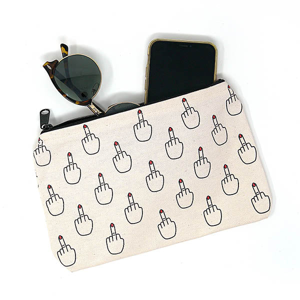 Toy & Toiletry Middle Finger Pouch by Unblushing