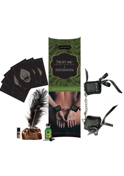 Trust Me Erotic Gift Set with Cuffs