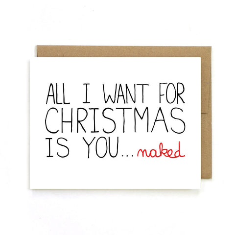 You Naked for Christmas Greeting Card