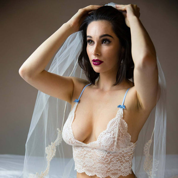 Foxers Lace Bralette in Ivory Wedding