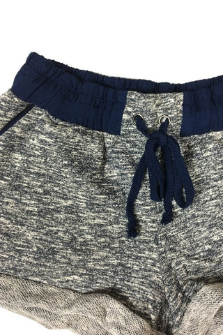 French Terry Jogger Shorts - Navy, , Bottoms, New, Bayberry Co. - 3