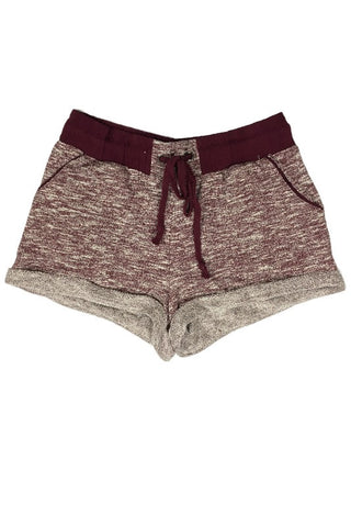French Terry Jogger Shorts - Burgundy, , Bottoms, New, Bayberry Co. - 2