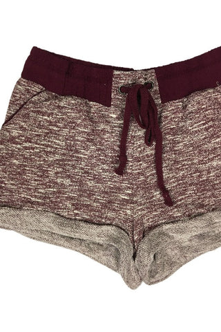 French Terry Jogger Shorts - Burgundy, , Bottoms, New, Bayberry Co. - 3