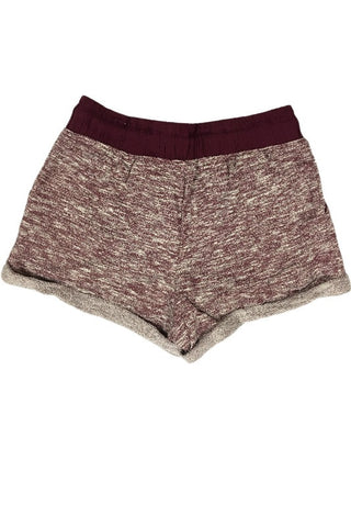 French Terry Jogger Shorts - Burgundy, , Bottoms, New, Bayberry Co. - 4