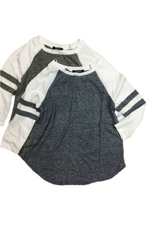 Mila Baseball Tee - Blue, , Tops, New, Bayberry Co. - 2