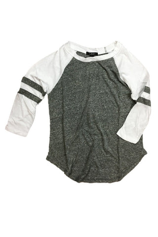 Mila Baseball Tee - Gray, , Tops, New, Bayberry Co. - 1
