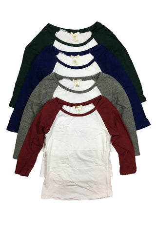 Scoop Neck Raglan Tee (4 Colors), , Tops, New, Bayberry Co. - 2