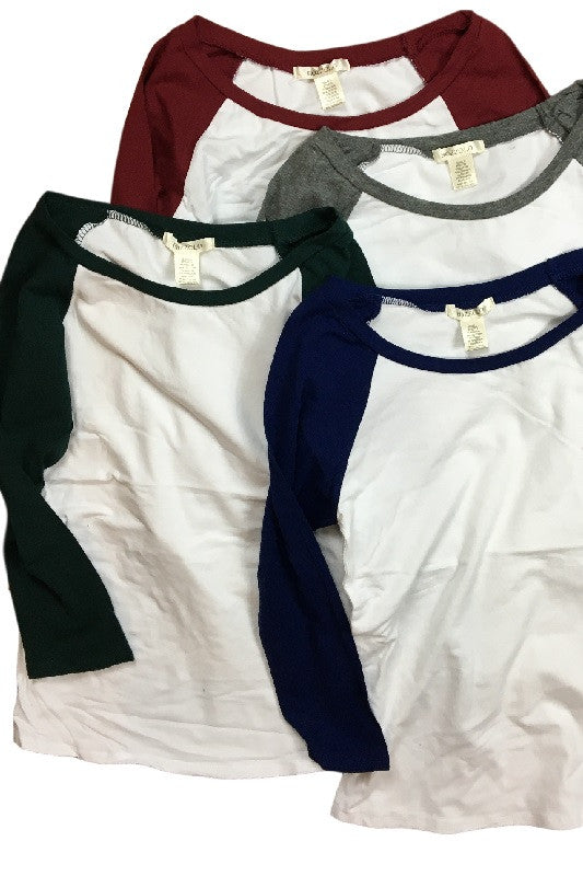 Scoop Neck Raglan Tee (4 Colors), , Tops, New, Bayberry Co. - 1