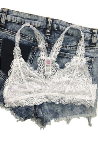 Esmee Lace Bralette - White, , Intimates, Essentials, new, Bayberry Co. - 1