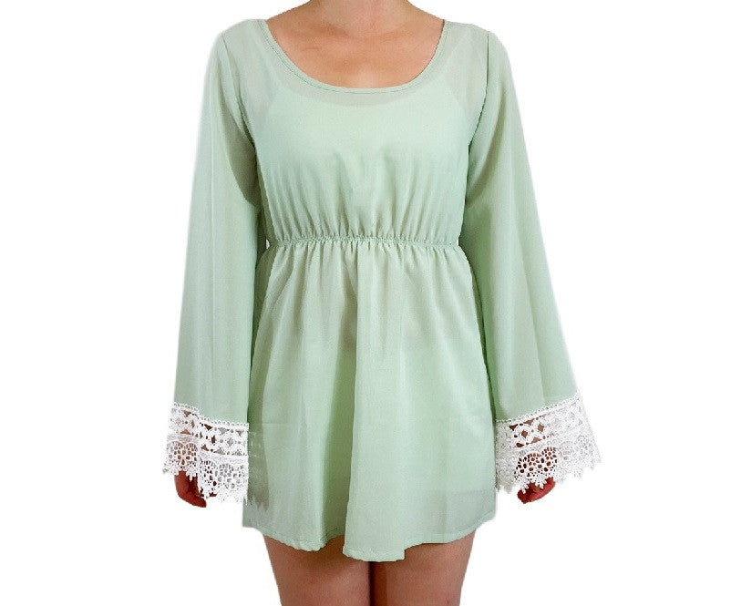 Genesse Bell Sleeve Top, , sale, Bayberry Co.