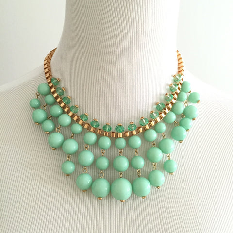 Calyx Necklace Set - Mint, , sale, jewelry, Bayberry Co. - 1