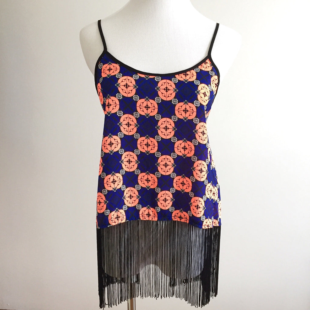 Festival Fringe Top - Peach/Blue, , sale, Bayberry Co. - 1