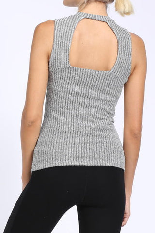 Ribbed Gray Top, , Tops, Essentials, New, Bayberry Co. - 3