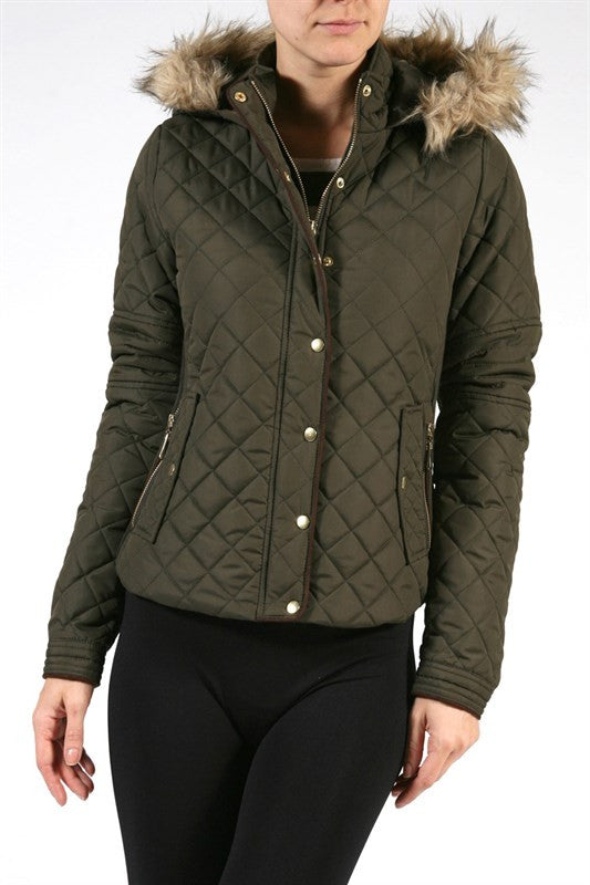 Quilted Olive Jacket, , Outerwear, New, Bayberry Co. - 1