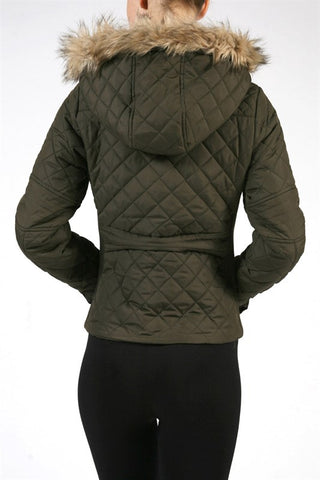 Quilted Olive Jacket, , Outerwear, New, Bayberry Co. - 2