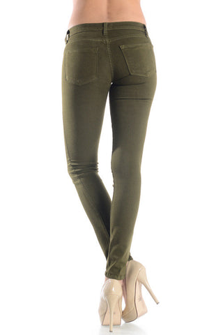 The Incredible Jeans - Olive, , Bottoms, New, Bayberry Co. - 2