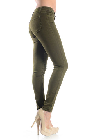 The Incredible Jeans - Olive, , Bottoms, New, Bayberry Co. - 3