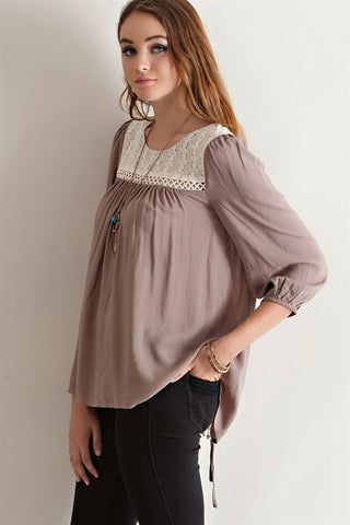 Laced In Romance Top, , Tops, New, Bayberry Co. - 3