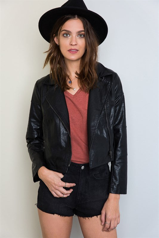 Life's Tough Biker Jacket, , Outerwear, New, Bayberry Co. - 1