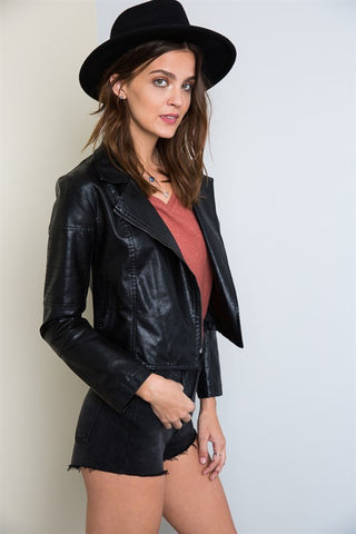 Life's Tough Biker Jacket, , Outerwear, New, Bayberry Co. - 3